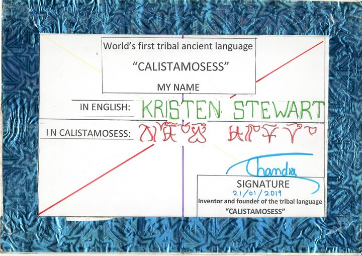 KRISTEN STEWART in CALISTAMOSESS - CALISTAMOSESS