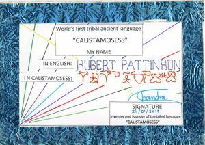 ROBERT PATTINSON in CALISTAMOSESS