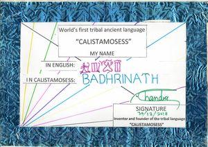 BADRINATH in CALISTAMOSESS