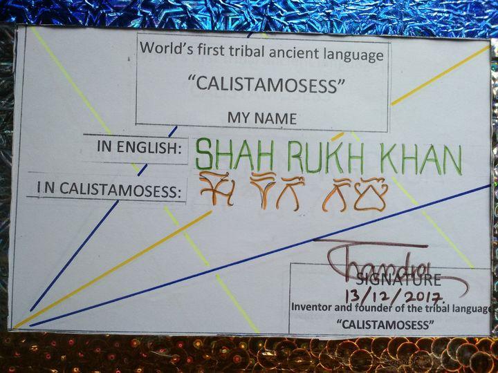 BOLLYWOOD BADSHA SHARUKH KHAN in CAL - CALISTAMOSESS