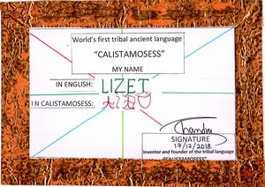 """""""LIZET"""" in CALISTAMOSESS"""