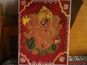 Ganesha sand painting