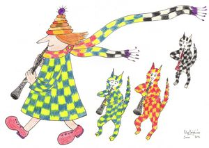MadCatWoman with Harlequin Cats