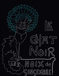 Le Chat Noir black background