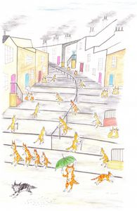 Cat Re-enactment Society L.S.Lowry