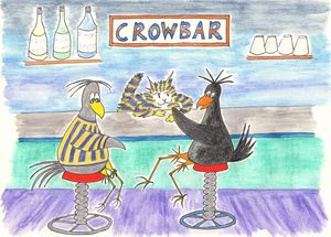 Crows in the Crowbar, Match BarCat - Louisa's Ginger Nuts