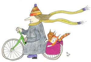MadCatWoman Cycling with Cats