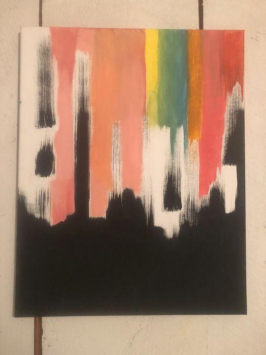 Black to rainbow drip - Dedgrlart