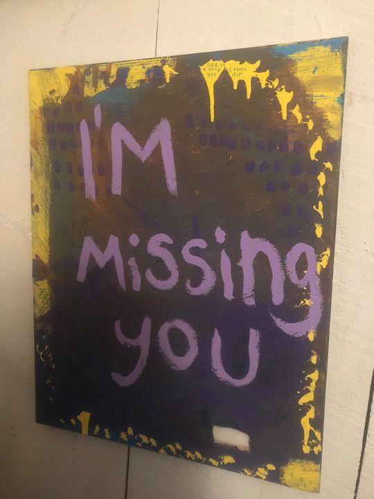 Missing you canvas - Dedgrlart
