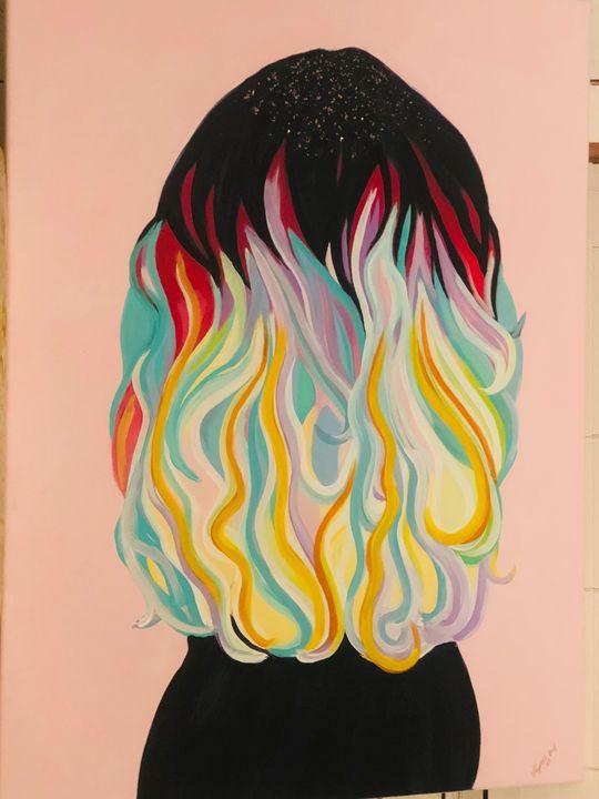 Party hair - Dedgrlart