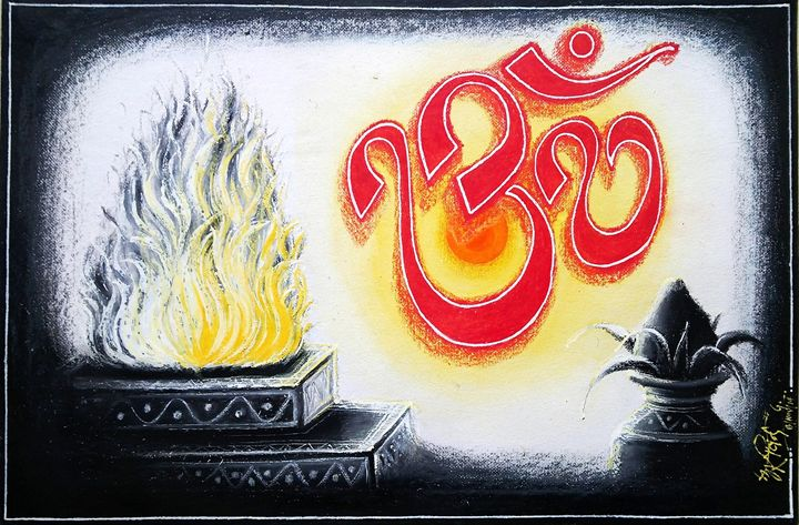 Om & Yagna - Arvind Gairola's collection of Art