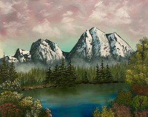 Mountain Evening - Adam Lashley (AL) Oil Paintings