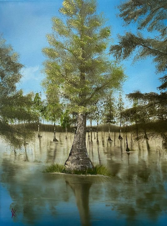 Carolina Cypress - Adam Lashley (AL) Oil Paintings