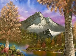 Autumn Mountain Majesty - Adam Lashley (AL) Oil Paintings