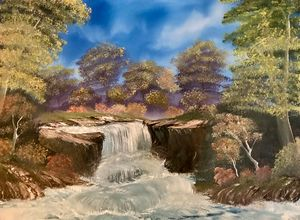 Free Waterfall - Adam Lashley (AL) Oil Paintings