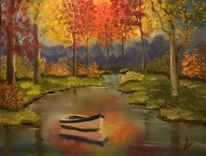 Autumn Stillness - Adam Lashley (AL) Oil Paintings