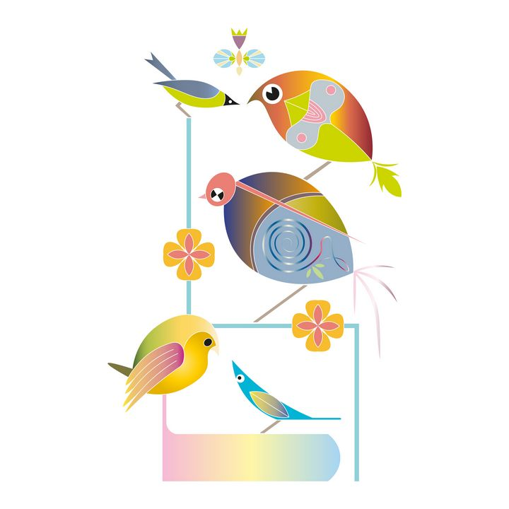 bird illustration - Lekatarino