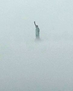 Lady in a fog