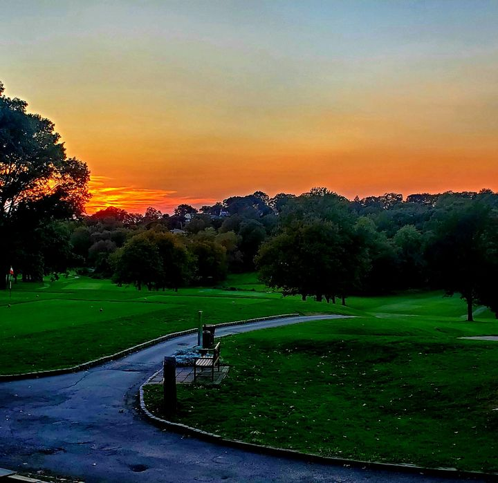 Sunset over golf course - Wutphotos
