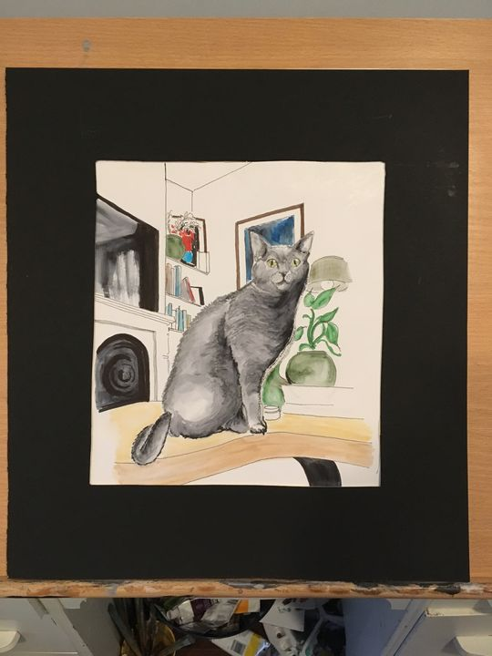 Charlie the cat - Andre-Marc's painting gallery