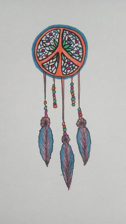 Peace catcher - Cheryls sharpie creations