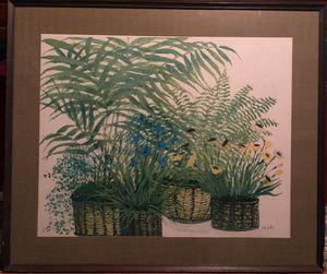 """""""Primavera"""" Fern Lithograph"""