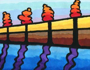 Dancing on a Bridge at Dawn