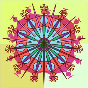 Abstract Spiked Flower Wheel