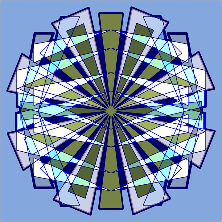 Abstract Triangle Starburst in Blue - Feami HuX's Gallery