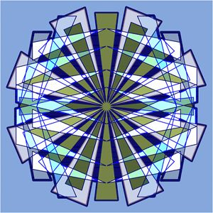 Abstract Triangle Starburst in Blue
