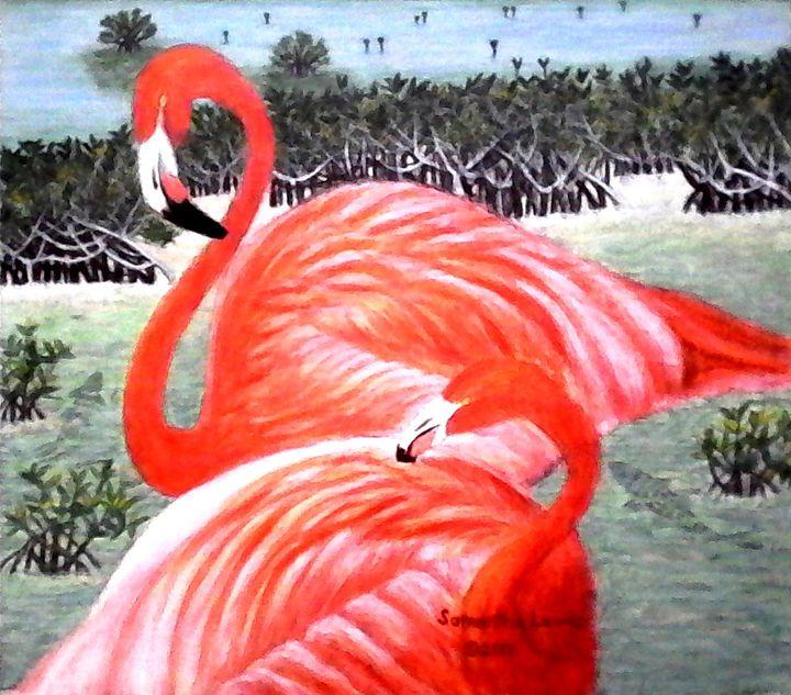 Flamingos - Samantha Lewis