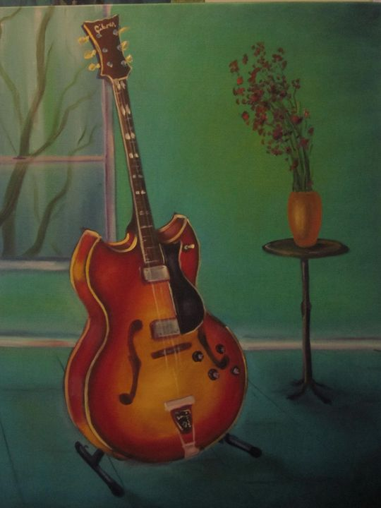 '72 Gibson Barney Kessel - Mike Skiff Paintings