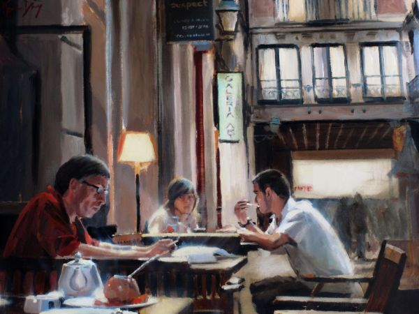 BARCELONA BAR by Kevin Day - Collectable Art