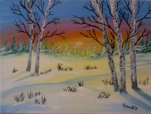Birch Sunrise #2