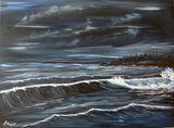 Angry Sea at Night