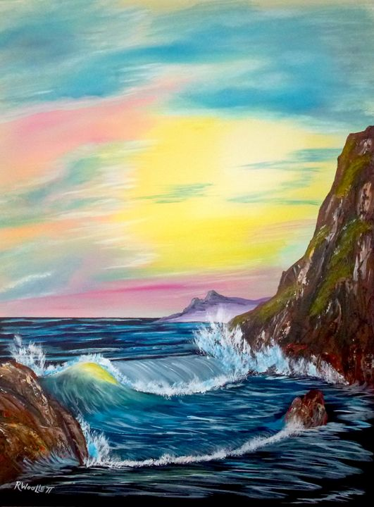 Wave in the Cove - rwoollett