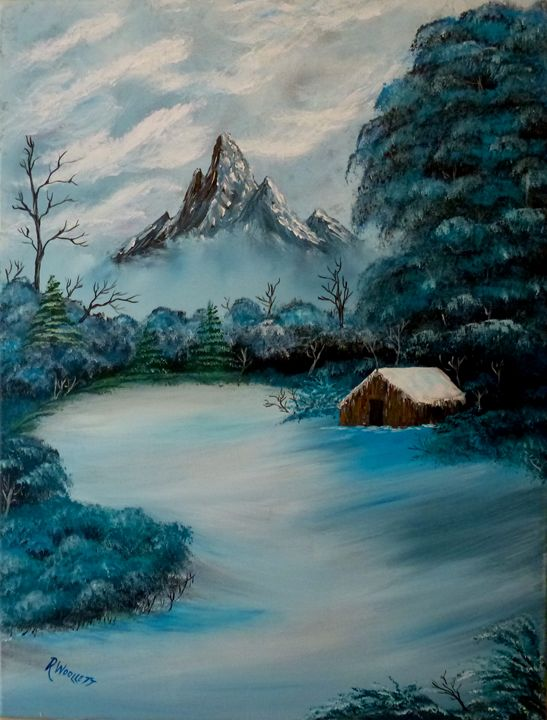 Winter Mountain - rwoollett