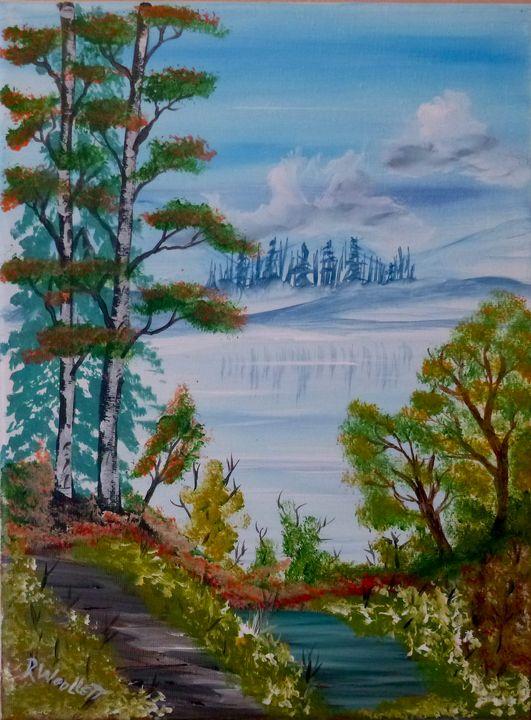 Birch by the Pond #1 - rwoollett