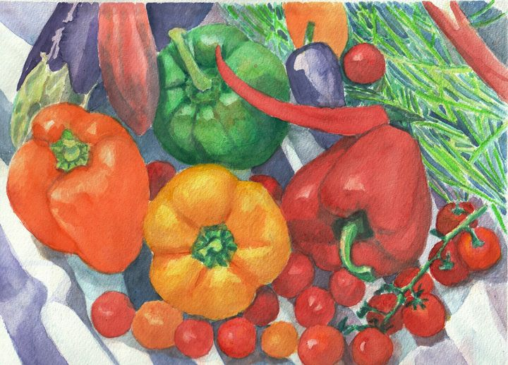 Colorful Vegetables on table - Lucie Mizutani