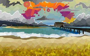 Wake Beach Rainbow