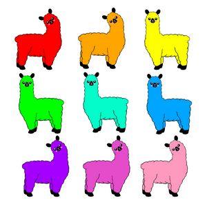 Rainbow Llamas