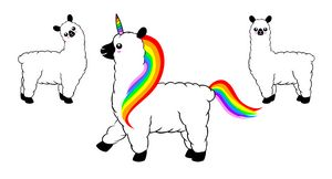 Rainbow llamacorn