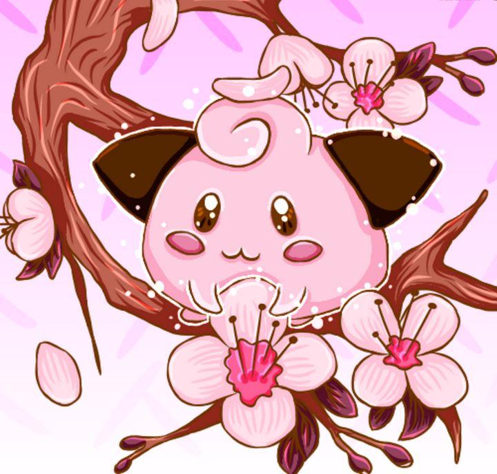 Cherry Blossom Cleffa - WugglekittyWares