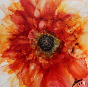 Golden orange sunflower