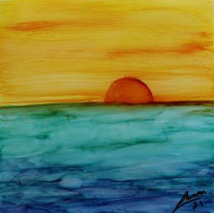 Sunset fantasy ocean