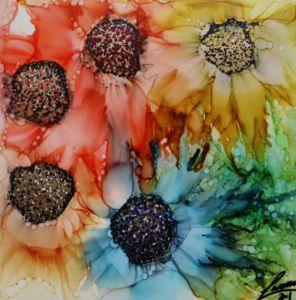Multicolor flowers - Weaver Warren Moon Child
