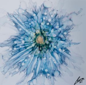 Blue fairy flower