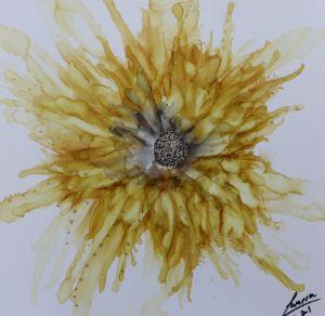 Golden flower burst