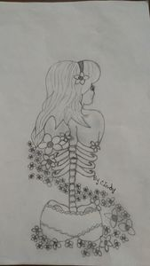 Half girl bone flower - Cindy and Brandin
