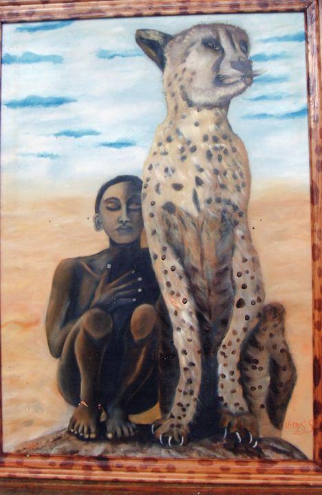 At the desert - Ladys Serrano